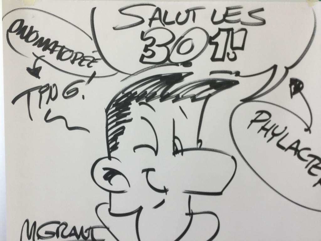 Le bédéiste Michel Grant rencontre les élèves de St-Léon
